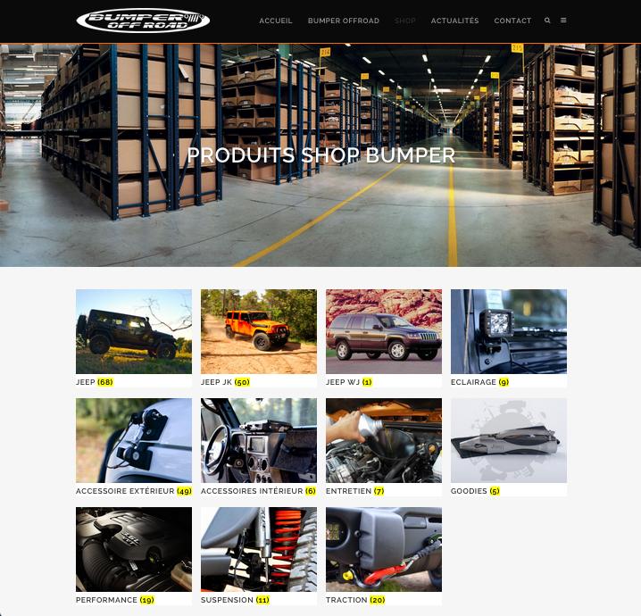 Ouverture de la boutique web de Bumper OffRoad