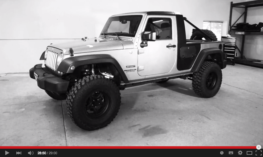 KIT PICK-UP ACTIONTRUCK POUR JEEP WRANGLER JK UNLIMITED