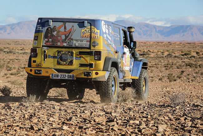 Preparation Jeep JK rallye des gazelles Bumperoffroad