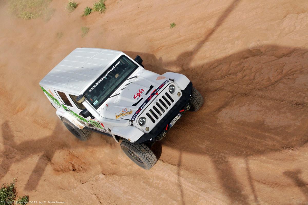 Rallye M'Hamid Express 2018 Alain WitschJean François Quétier - Bumperoffroad - Jeep JK