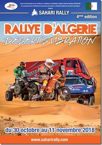 affiche officielle du rallye Sahari Rally - Bumperoffroad location et preparation Jeep Rallye
