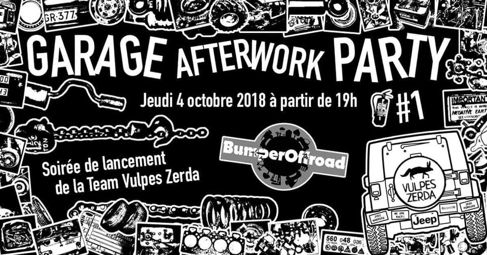 Garage Afterwork Party chez Bumperoffroad avec Vulpes Zerda
