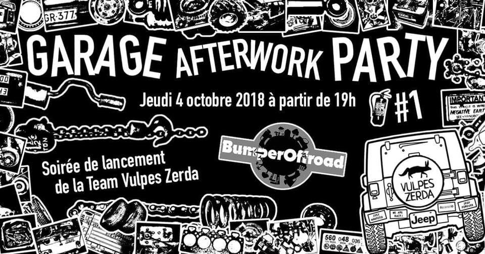 Garage Afterwork Party chez Bumperoffroad avec Vulpes Zerda