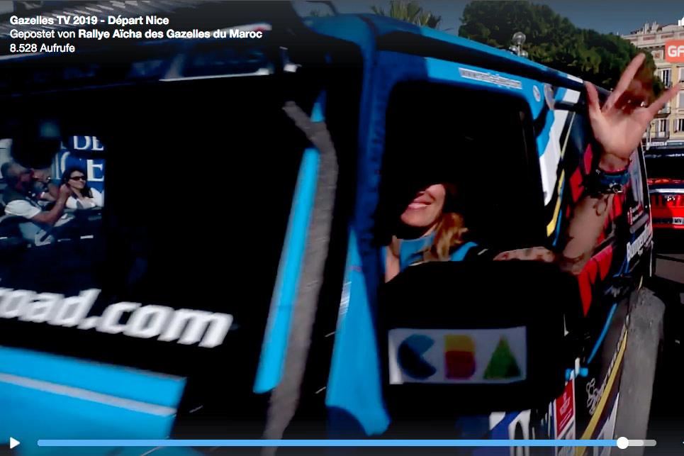 Vidéo du départ du Rallye Aïcha des Gazelles 2019.