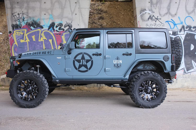 "Occasion Jeep Wrangler JKU Unlimited 3.6l V6 Pentastar 285 Cv Recon ""Navy"""